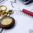 Stockfoto: Ball-point pen on business chart