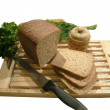 Stock Photo: Bread cutting