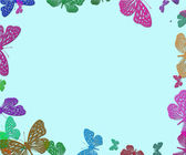 Frame with butterfly — Stock Photo
