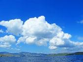 Sea landscape with cloud — Stock Photo