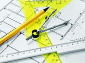 Set geometric and plan — Stock Photo