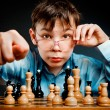 Nerd play chess — Stock Photo #1189153