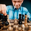 Nerd play chess — Stock Photo #1189186