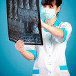 Stock Photo: Doctor with xray