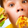 Child and fast food - Lizenzfreies Foto