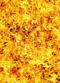 Fire photo on a black background — Stock Photo