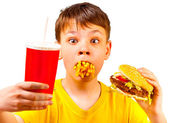 Child and fast food — Stock Photo