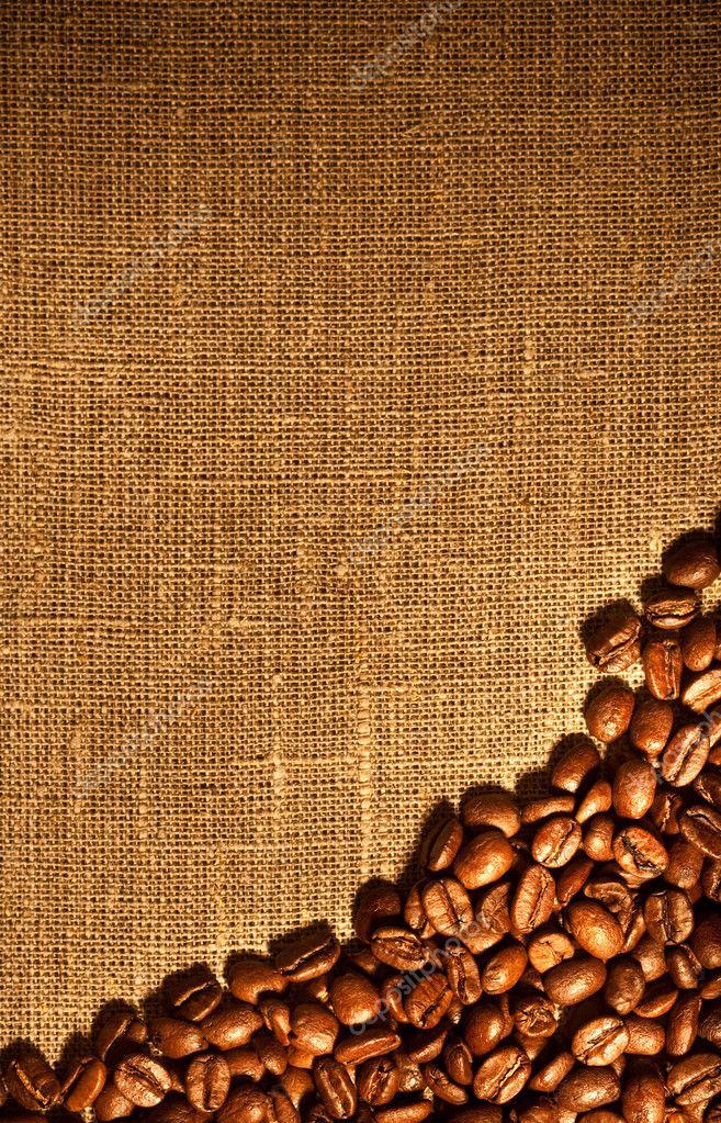 кофейные зерна мешковина ткань  № 3696139 загрузить