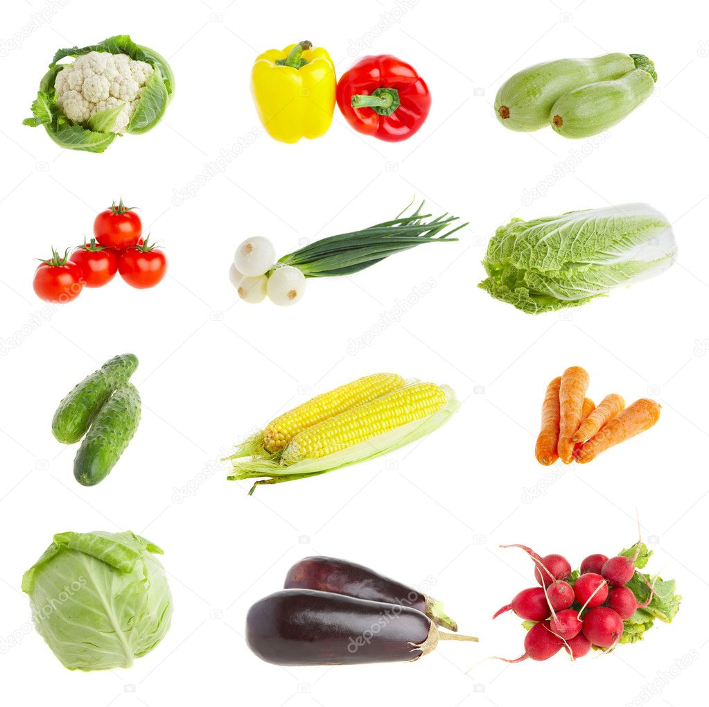Photo of various vegetables. Healthy food — Foto de Stock   #1189026