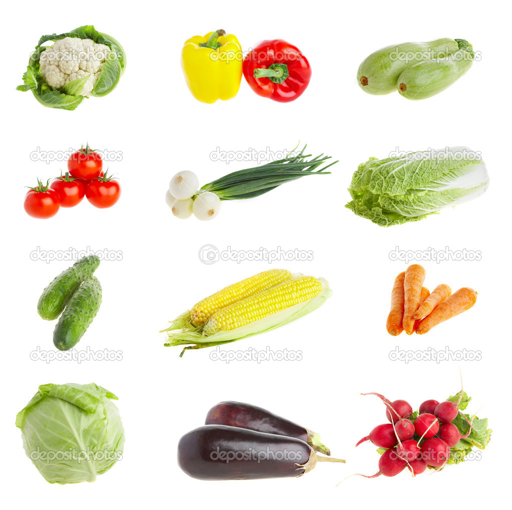 Photo of various vegetables. Healthy food — Stock Photo #1189026