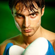 Boxing. Man in boxing gloves — Stock Photo