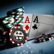 Gambling chips - Stock Photo