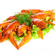 Stockfoto: Boiled crawfish
