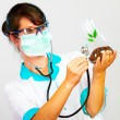 Scientist Checking Health Of A Life — Stock Photo