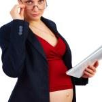 Pregnant businesswoman at work — Stock Photo