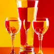 Wine-glasses with water - Foto Stock