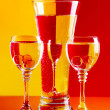 Wine-glasses with water - Stock Photo