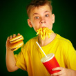 Child and fast food. — Stock Photo #1191212