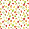Fruits - seamless background — Stock Photo
