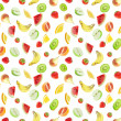 Fruits - seamless background - Stock Photo