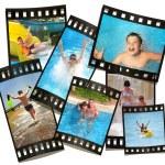 descansar de toda familia. película con fotos — Foto de Stock