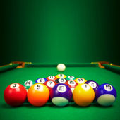 Billiard balls with copy space — Stock Photo