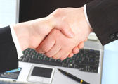 Hand shake of two — Stock Photo