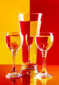 Wine-glasses with water — Stock Photo