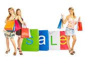 Sale - Bags girls. — Stock Photo
