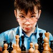 Wunderkind  play chess — Stock Photo