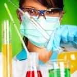 Scientist in laboratory — Stock Photo