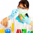 Scientist in laboratory - Stock Photo
