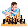 Wunderkind  play chess - Stock Photo