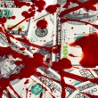 Stock Photo: Dollars and blood