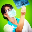 Doctor with xray - Stock Photo