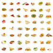 56 dishes — Stock Photo
