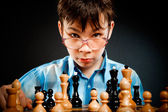 Wunderkind play chess — Foto Stock