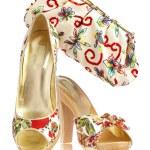 Female shoes and handbag — Stock Photo