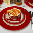 Tasty soup on a table at restaurant — ストック写真 #1318698