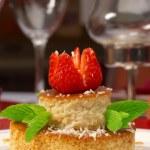 Tasty dessert on a table at restaurant — Stock Photo