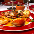 Tasty dish from sea products at restaura - 