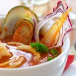 Tasty soup on a table at restaurant — 图库照片 #1318888