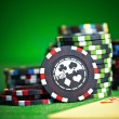 Gambling chips with copy space — Stock Photo