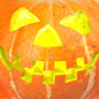 Scary old jack-o-lantern - Stock Photo
