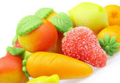 Sweets marzipan. In the form of fruit — Stock Photo
