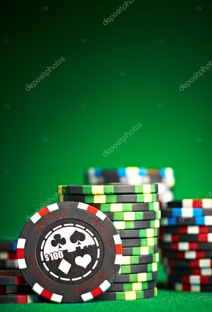 Gambling chips with copy space... — Stock Photo #1319481