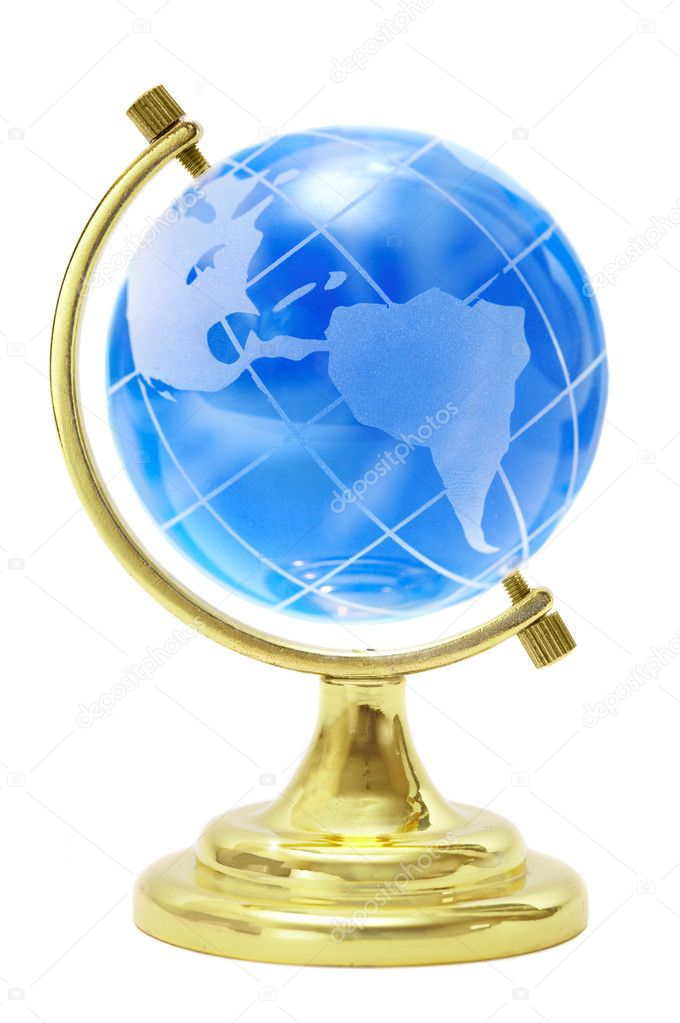 Terrestrial globe on a white background — Stock Photo #1319782