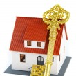 Stock Photo: House and key