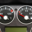 Stock Photo: The instrument panel of the car