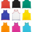 Multicoloured  sports shirt... — Stock Photo